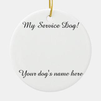 MY SERVICE DOG ORNAMENT (CUSTOMIZABLE)