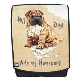 My Shar-Pei Ate My Homework Backpack