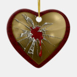 My Shattered Heart Christmas Ornament