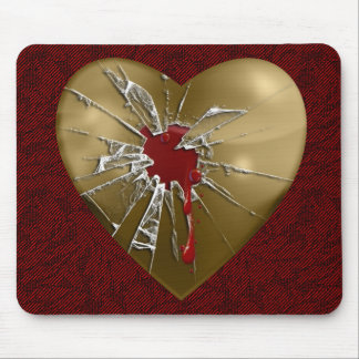 My Shattered Heart Mouse Pad