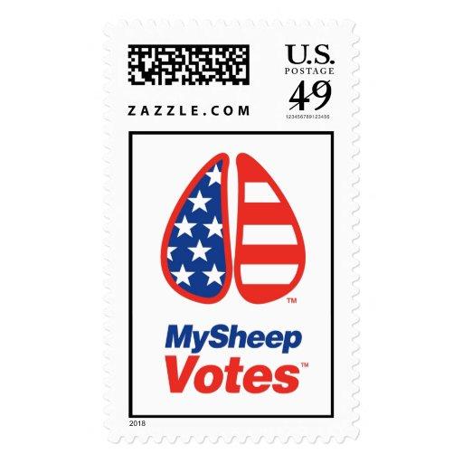 My Sheep Votes USA Stamp