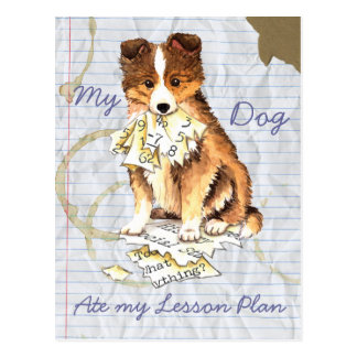 My Sheltie Ate My Lesson Plan Post Card