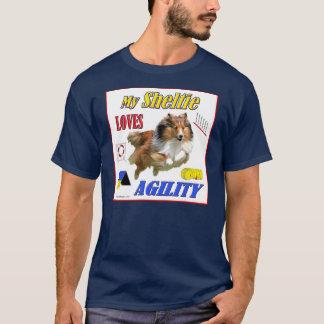 My Sheltie Loves Agility design- Sable T-Shirt