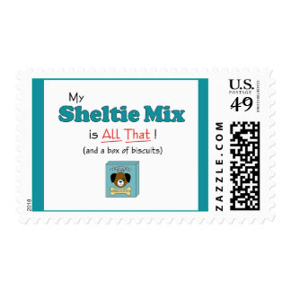 My Sheltie Mix is All That! Postage