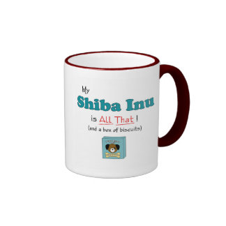 My Shiba Inu is All That! Ringer Coffee Mug