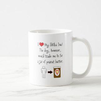 My Shiba Inu Loves Peanut Butter Coffee Mug