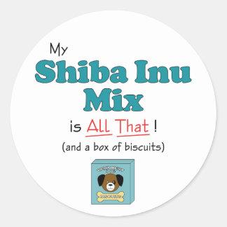 My Shiba Inu Mix is All That! Classic Round Sticker