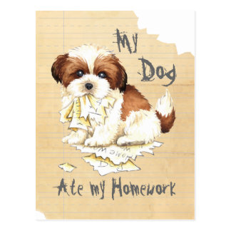 My Shih Tzu Ate My Homework Postcard