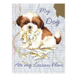 My Shih Tzu Ate My Lesson Plan Post Cards