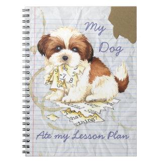 My Shih Tzu Ate My Lesson Plan Spiral Notebook