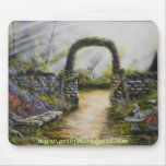 My side yard~ Oil Painting Mousepad
