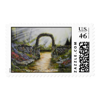 My side yard US Stamp with Art by David Paul