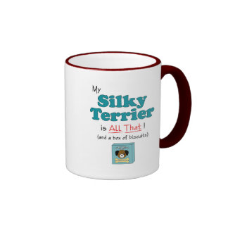 My Silky Terrier is All That! Ringer Coffee Mug