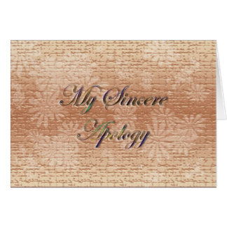 My Sincere Apology Card