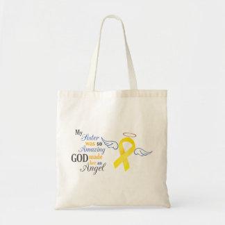My Sister An Angel - Bladder Cancer Budget Tote Bag