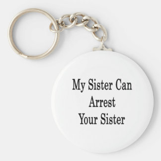 My Sister Can Arrest Your Sister Basic Round Button Keychain