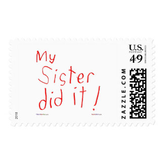 My Sister Did It! Postage Stamps