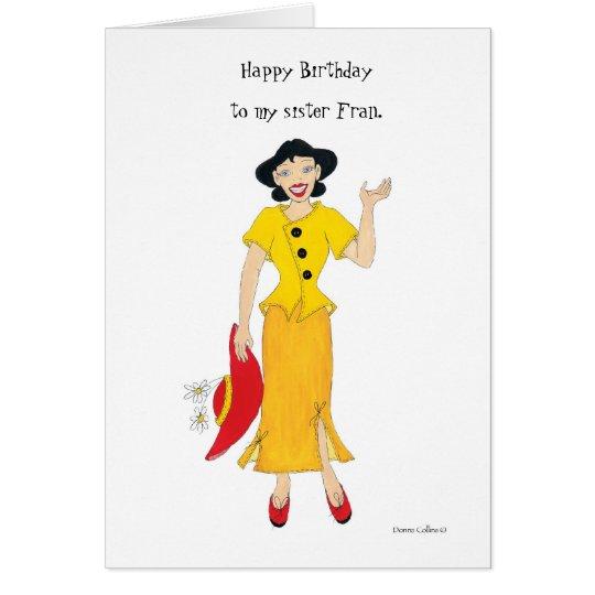 My sister Fran Card