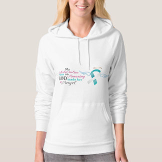 My Sister-in-Law an Angel – Cervical Cancer Hoodie