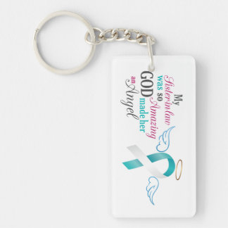 My Sister-in-Law an Angel – Cervical Cancer Keychain
