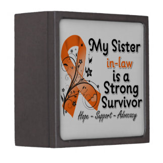 My Sister-in-Law is a Strong Survivor Orange Premium Keepsake Box