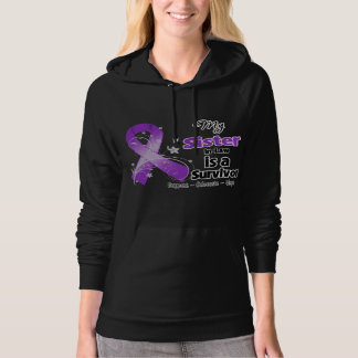 My Sister-in-Law is a Survivor Purple Ribbon Hooded Pullovers