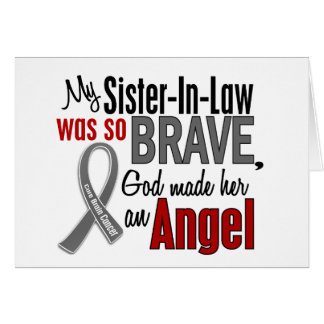 My Sister-In-Law Is An Angel 1 Brain Cancer Cards