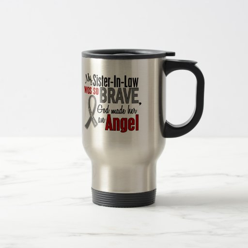 My Sister-In-Law Is An Angel 1 Brain Cancer Coffee Mugs