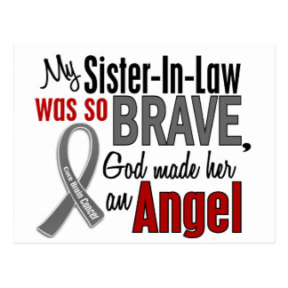 My Sister-In-Law Is An Angel 1 Brain Cancer Post Card