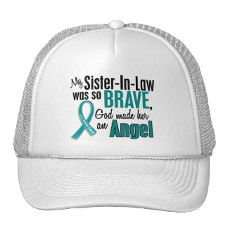 My Sister-In-Law Is An Angel 1 Ovarian Cancer Hat