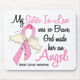 My Sister-In-Law Is An Angel 2 Breast Cancer Mouse Pad