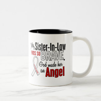 My Sister-In-Law Is An Angel Lung Cancer Coffee Mugs