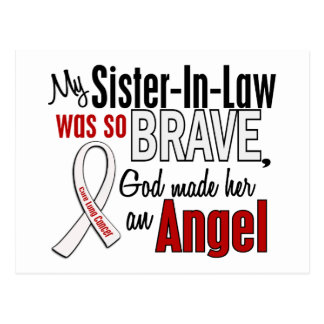 My Sister-In-Law Is An Angel Lung Cancer Postcard