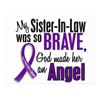 My Sister-In-Law Is An Angel Pancreatic Cancer Postcard
