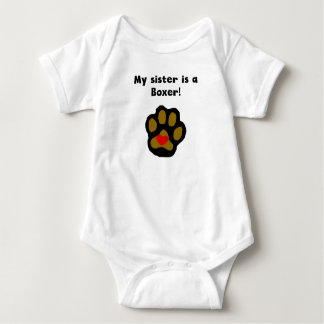 My Sister Is A Boxer Baby Bodysuit