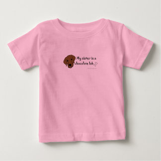 my sister is a chocolate lab - more breeds t-shirts