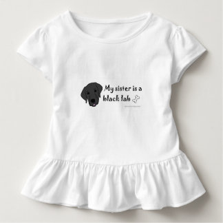 "my sister is a ""dog breed"" toddler t-shirt"