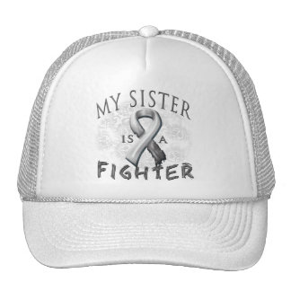 My Sister Is A Fighter Grey Trucker Hat