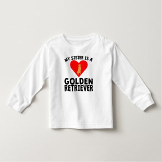 My Sister Is A Golden Retriever Tee Shirt