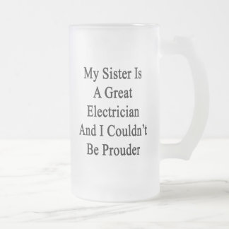 My Sister Is A Great Electrician And I Couldn't Be Beer Mug