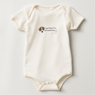 My sister is a jack russell terrier - more breeds baby bodysuit