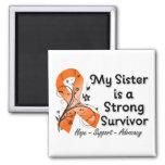 My Sister is a Strong Survivor Orange Ribbon Fridge Magnet