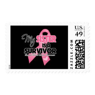 My Sister is a Survivor - Breast Cancer Postage Stamp