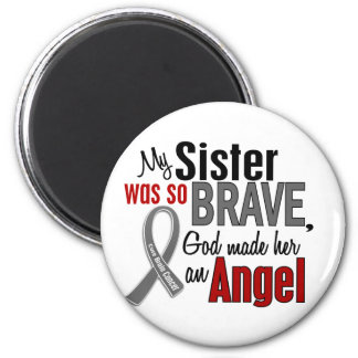 My Sister Is An Angel 1 Brain Cancer 2 Inch Round Magnet