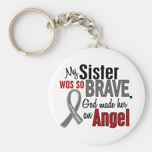 My Sister Is An Angel 1 Brain Cancer Key Chain