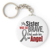 My Sister Is An Angel 1 Brain Cancer Keychain