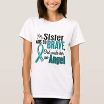 My Sister Is An Angel 1 Ovarian Cancer T-Shirt