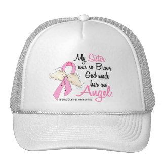 My Sister Is An Angel 2 Breast Cancer Trucker Hat
