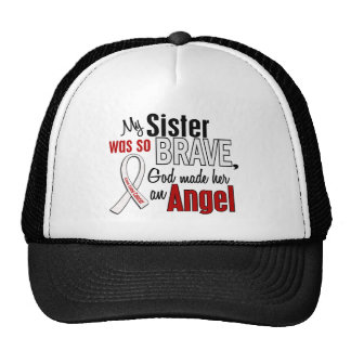 My Sister Is An Angel Lung Cancer Trucker Hats