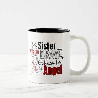 My Sister Is An Angel Lung Cancer Coffee Mugs